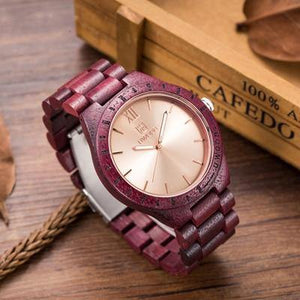 UWOOD Wooden Wrist Natural Calendar Display Bangle Watch - MoniiGarmenx