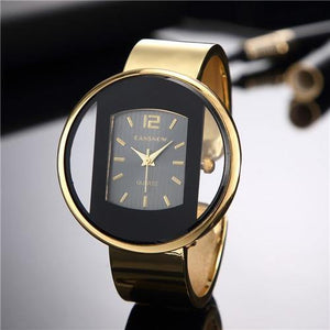CANSNOW Luxury Brand Bracelet Gold Silver Dial Watch - MoniiGarmenx