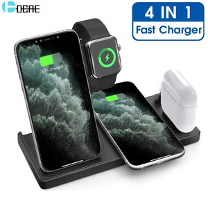 DCAE Charger 4 in 1 Fast 15W Qi Wireless Charging Station - MoniiGarmenx