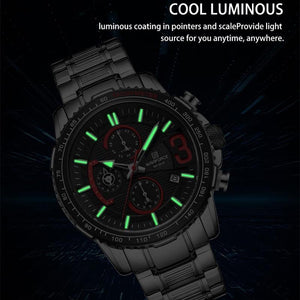 NAVIFORCE Luxury Brand Chronograph Sports Waterproof Full Steel Watch - MoniiGarmenx