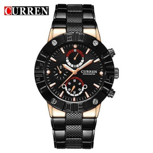 CURREN Top Brand Luxury Military Wristwatches Full Steel Sport Waterproof Watch