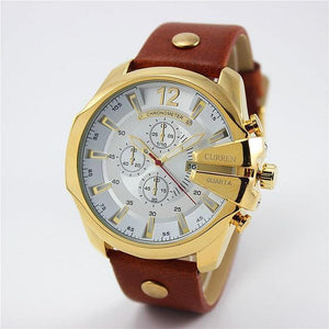CURREN Top Luxury Popular Brand Quartz Gold Wristwatches Clock Watch