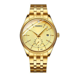 CHENXI Hot Fashion Creative Quartz Golden Luxury Clock Watch