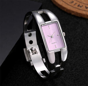 Soxy Luxury Wristwatch Bracelet Quartz Hollow Slim Band Bangle Watch