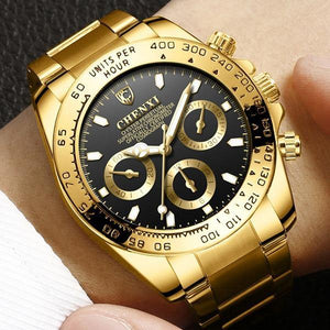 Chenxi Stainless Steel Luxury Gold Watch