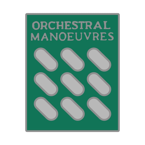 Orchestral Manoeuvres - Enamel Badge