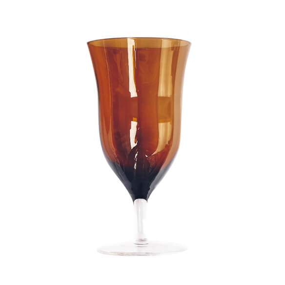 Claret Water Goblet - Amber (for sale)