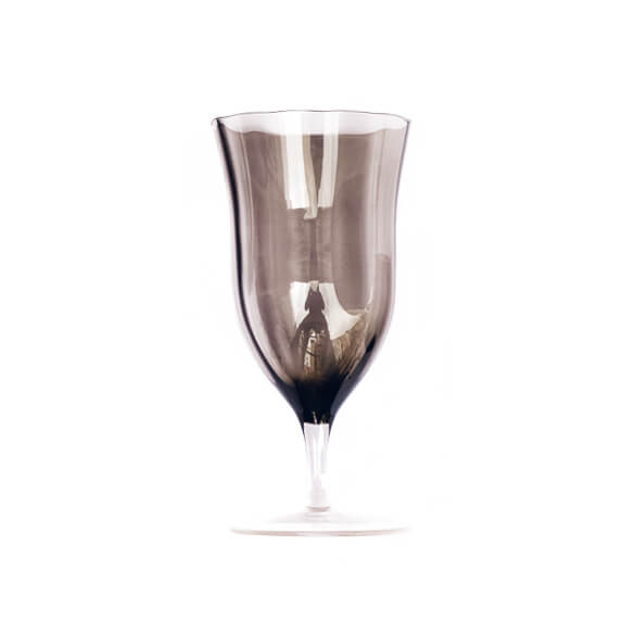 Claret Water Goblet - Smoke Gray