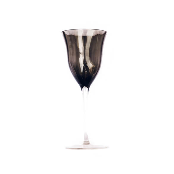 Claret White Wine Glass - Smoke Gray (for sale)