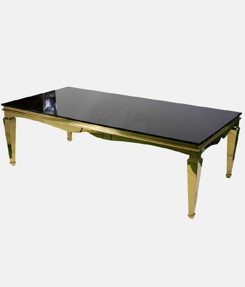 Paris Dining Table in Gold - Black