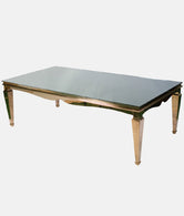 Paris Dining Table in Rose Gold - Black