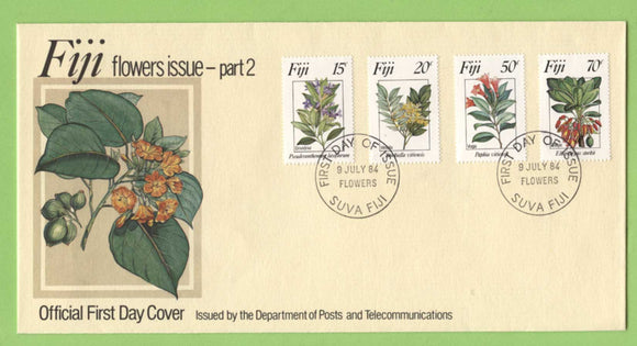 Fiji 1984 Flowers (2nd series) on First Day Cover