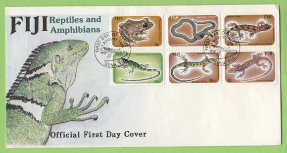 Fiji 1986 Reptiles and Amphibians set on First Day Cover