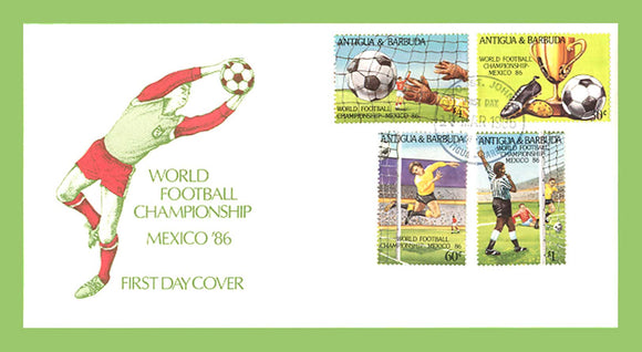 Antigua & Barbuda 1986 World Cup Football Championship, Mexico set on First Day Cover