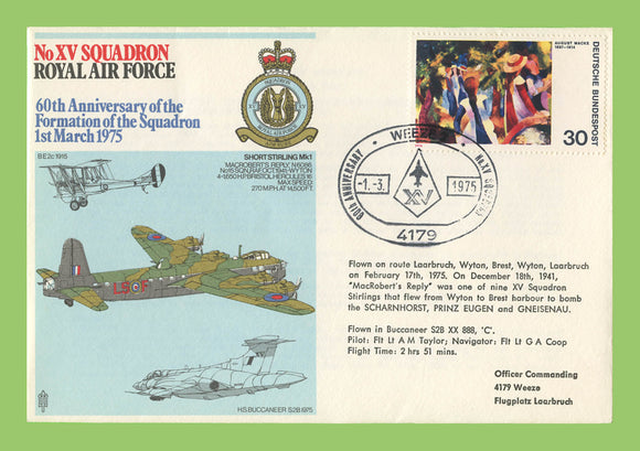Germany 1975 XV Squadron 60th Anniversary of Formation , RAF flown cover