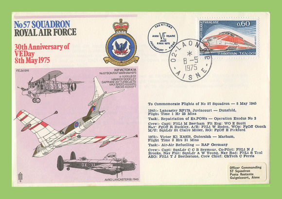 France 1975 No. 57 Squadron, 30th Anniversary of VE Day , RAF flown cover