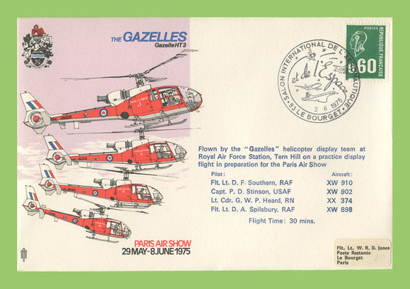 France 1975 Paris Air Show, The Gazelles , RAF flown cover