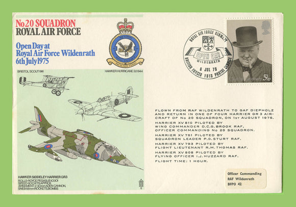 G.B. 1975 No 20 Squadron, Open Day Wildenrath, RAF flown cover