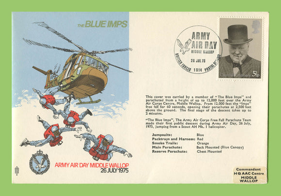 G.B. 1975 The Blue Imps, Army Air Day Middle Wallop, RAF flown cover