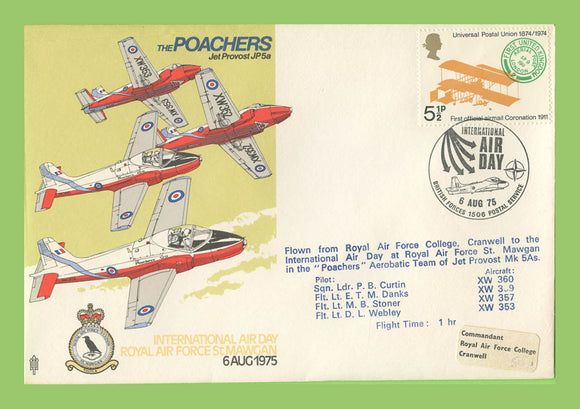 G.B. 1975 The Poachers, International Air Day St. Mawgan, RAF flown cover