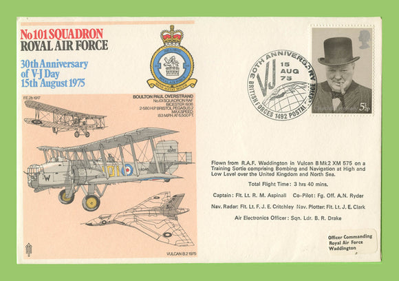 G.B. 1975 No 101 Squadron, 3oth Anniversary of V J Day, RAF flown cover
