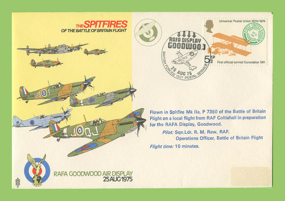 G.B. 1975 The Spitfires of Battle of Britain, Goodwood Air Displays, RAF flown cover