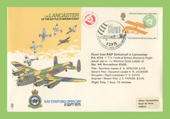 G.B. 1975 The Lancaster of Battle of Britain, Goodwood Air Displays, RAF flown cover