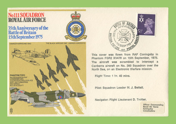G.B. 1975 No 111 Squadron, 35th Anniversary of the Battle of Britain, RAF flown cover