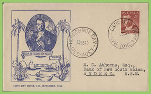 Australia 1948 Ferdinand Von Mueller First Day Cover, Horseshoe Bay