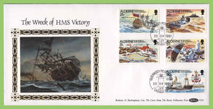 Alderney 1991 The Wreck of HMS Victory set on First Day Cover