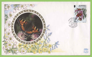 Alderney 1997 18p Butterfly on Benham First Day Cover