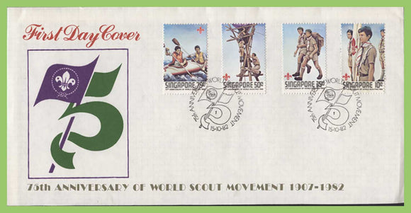 Singapore 1982 75th Anniversary of Scouting set on First Day Cover