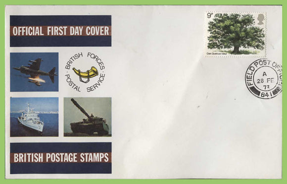 G.B. 1973 Oak Tree on Forces First Day Cover, FPO 841