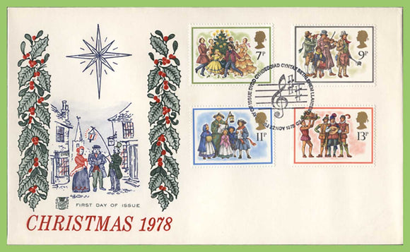G.B. 1978 Christmas set on Stuart First Day Cover, Bethlehem