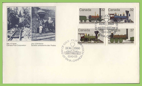 Canada 1983 Railway Locomotives (1st series) on First Day Cover