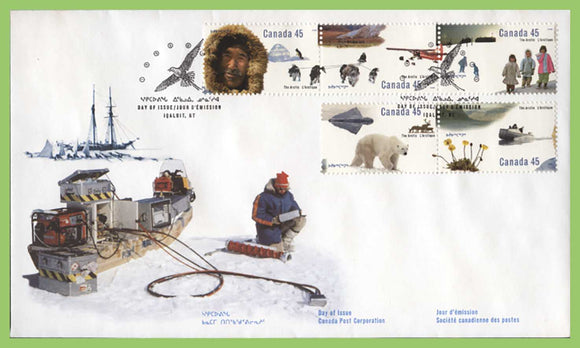 Canada 1995 50th Anniv of Arctic Institute set on First Day Cover