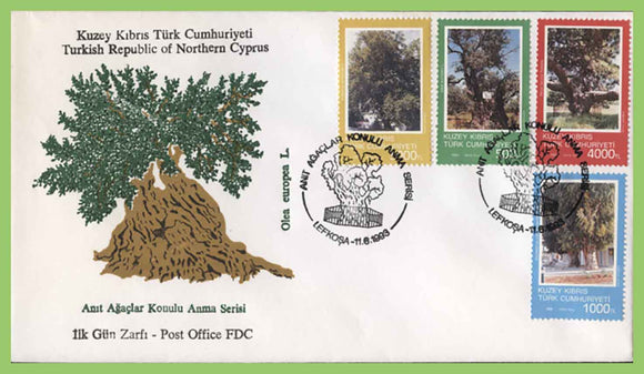 Cyprus (Turkish) 1990 Ancient Trees set on First Day Cover