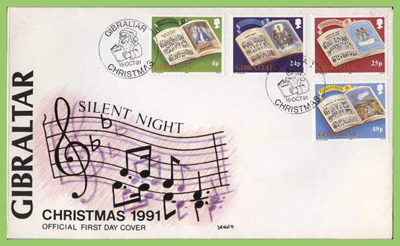 Gibraltar 1991 Christmas set First Day Cover