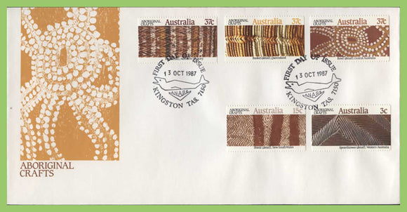 Australia 1987 Aboriginal Crafts set on First Day Cover