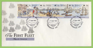 Australia 1987 The First Fleet, Departure set on First Day cover