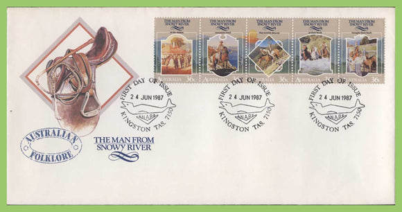Australia 1987 Folklore, Man from Snowy River set on First Day cover