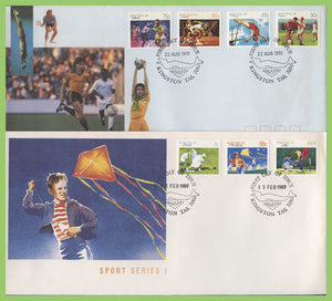 Australia 1986-1991 five Sports series First Day Covers