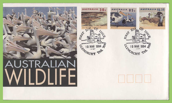 Australia 1994 Australian Wildlife set on First Day Cover