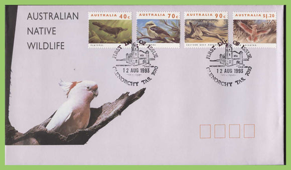 Australia 1993 Australian Native Wildlife set on First Day Cover