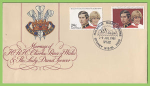 Australia 1981 Royal Wedding set on First Day Cover