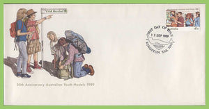 Australia 1989 50th Anniv of Australian Youth Hostels on First Day Cover