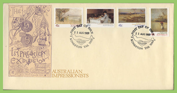 Australia 1989 Australian Impressionist Paintings set on First Day Cover