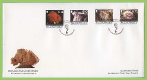 Alderney 2006 Corals and Anemones, four definitives inc. £4.00 on First Day Cover