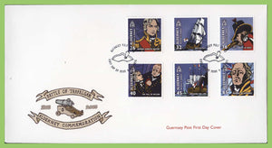 Alderney 2005 Bicentenary of Battle of Trafalgar set on First Day Cover
