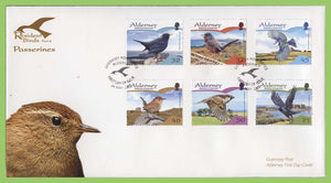 Alderney 2007 Resident Birds (2nd series). Passerines set on First Day Cover